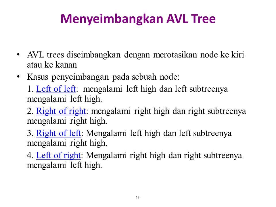 Menyeimbangkan AVL Tree