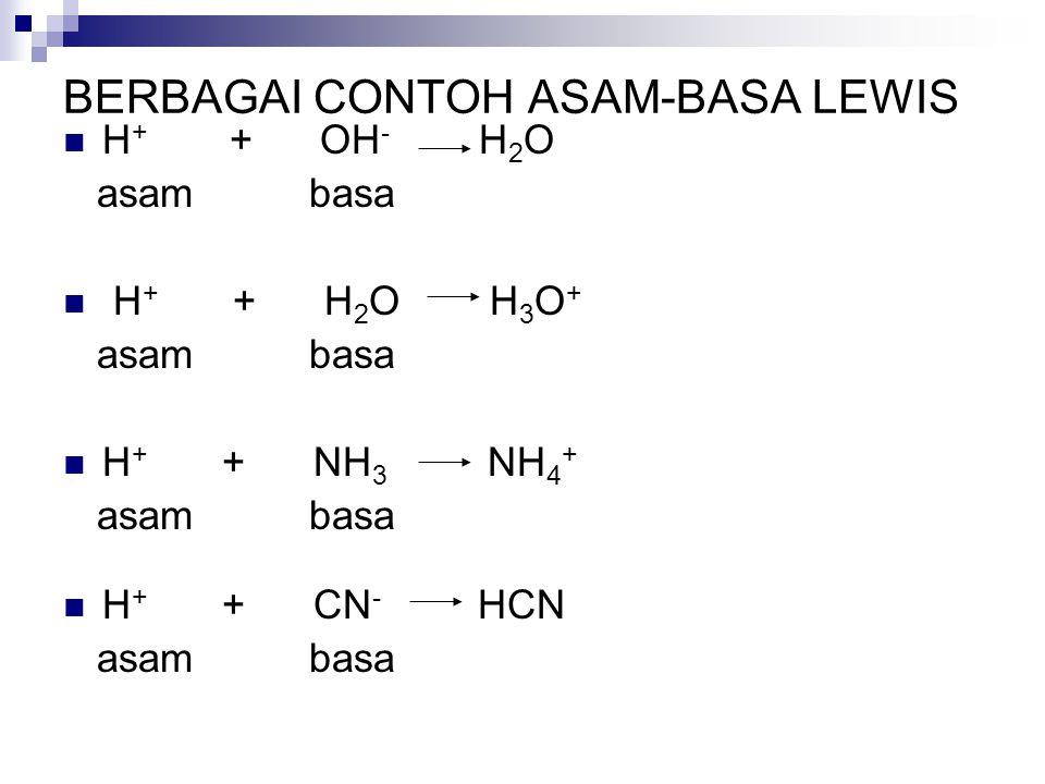 BERBAGAI CONTOH ASAM-BASA LEWIS