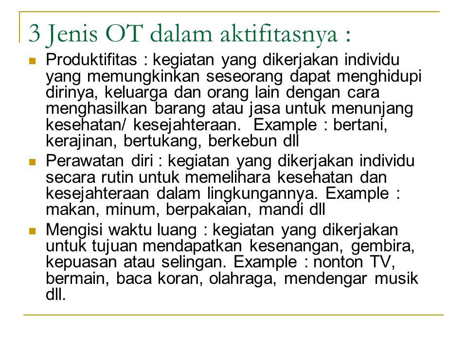 3 Jenis OT dalam aktifitasnya :
