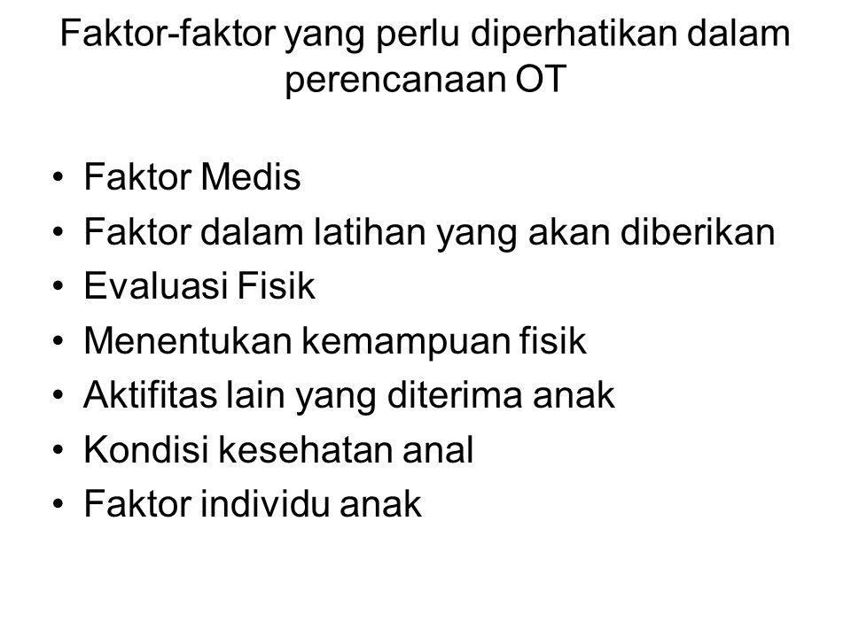 Faktor-faktor yang perlu diperhatikan dalam perencanaan OT