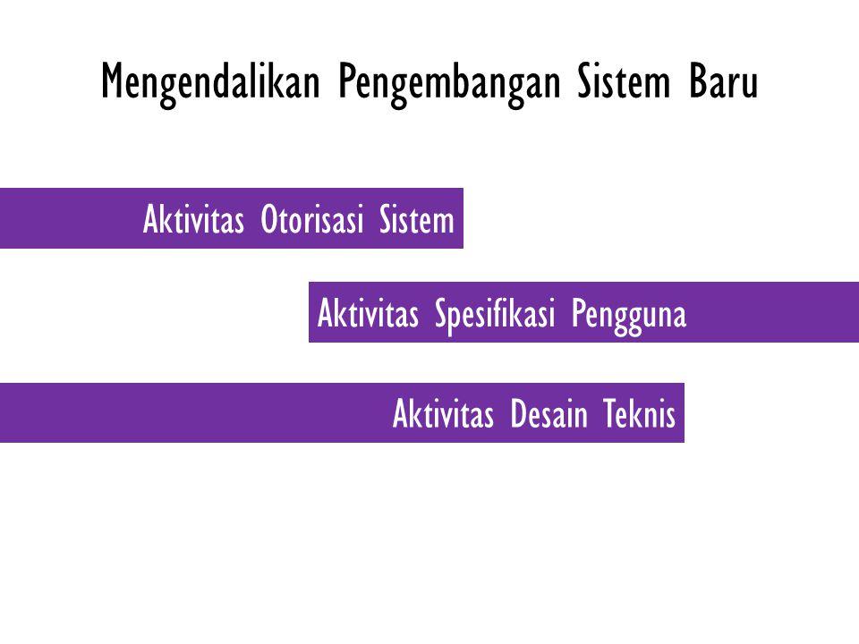 Mengendalikan Pengembangan Sistem Baru