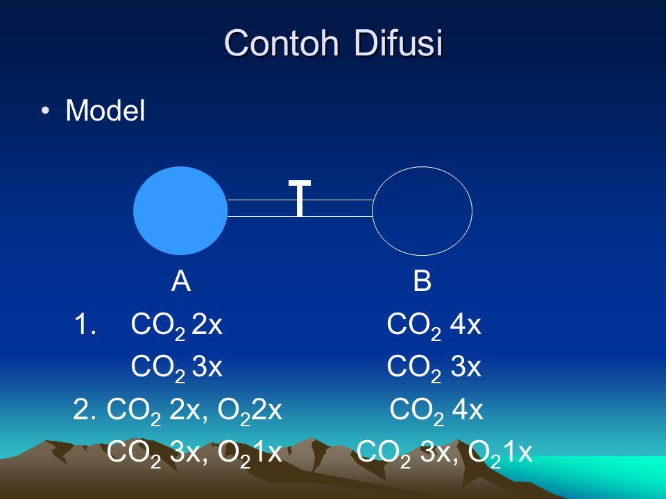 Contoh Difusi Model A B 1. CO2 2x CO2 4x CO2 3x CO2 3x