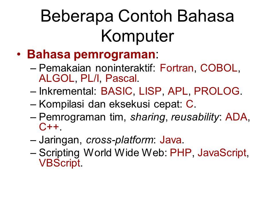 Beberapa Contoh Bahasa Komputer
