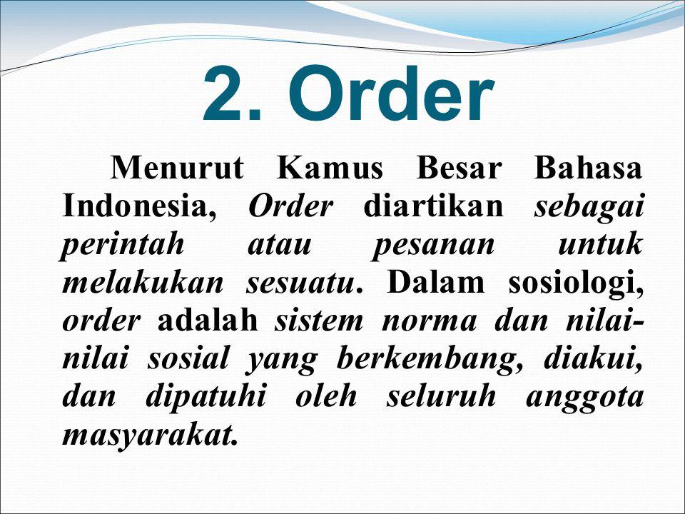 2. Order