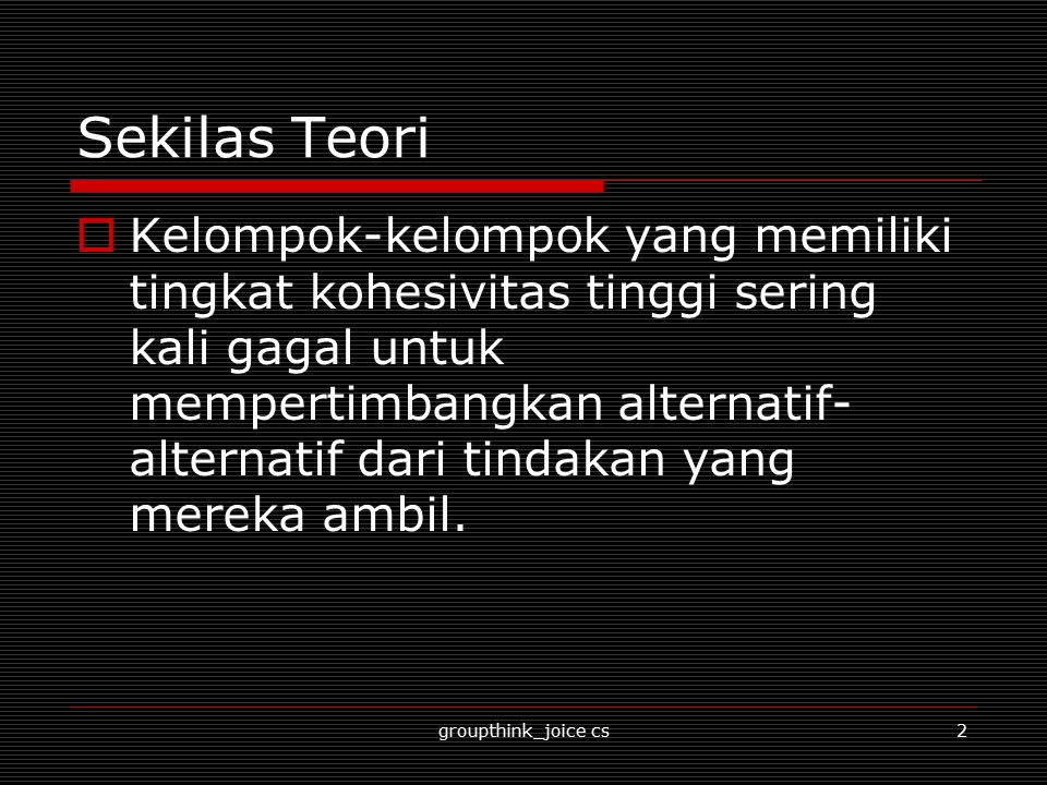 Sekilas Teori