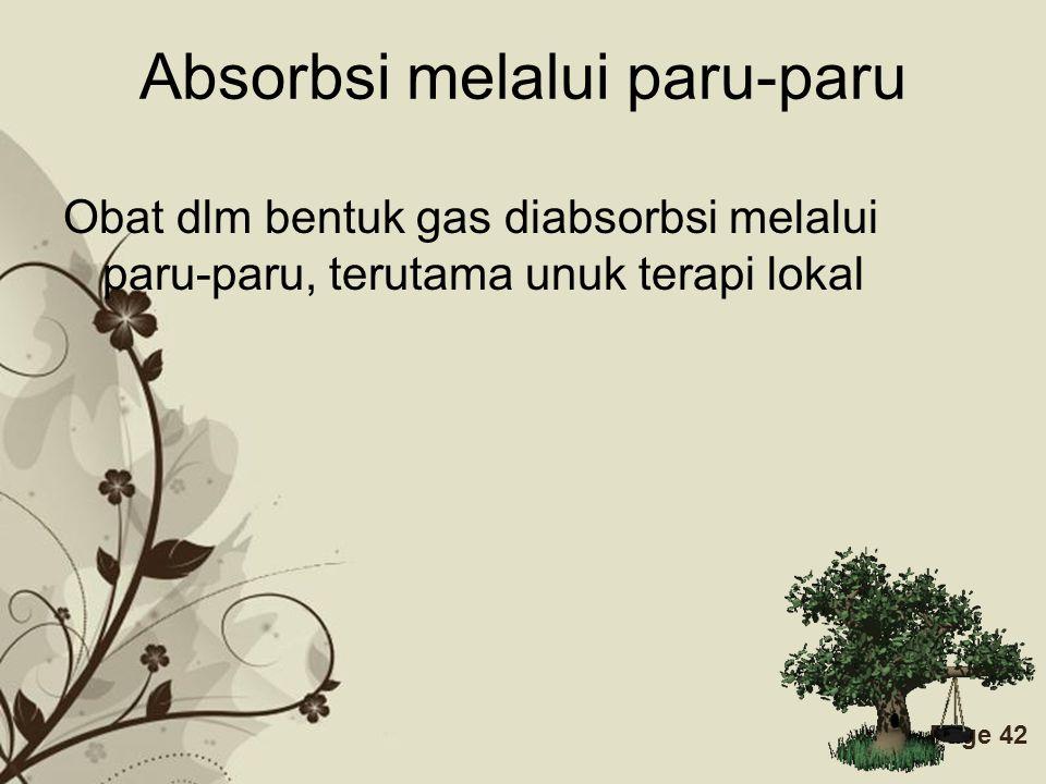 Absorbsi melalui paru-paru