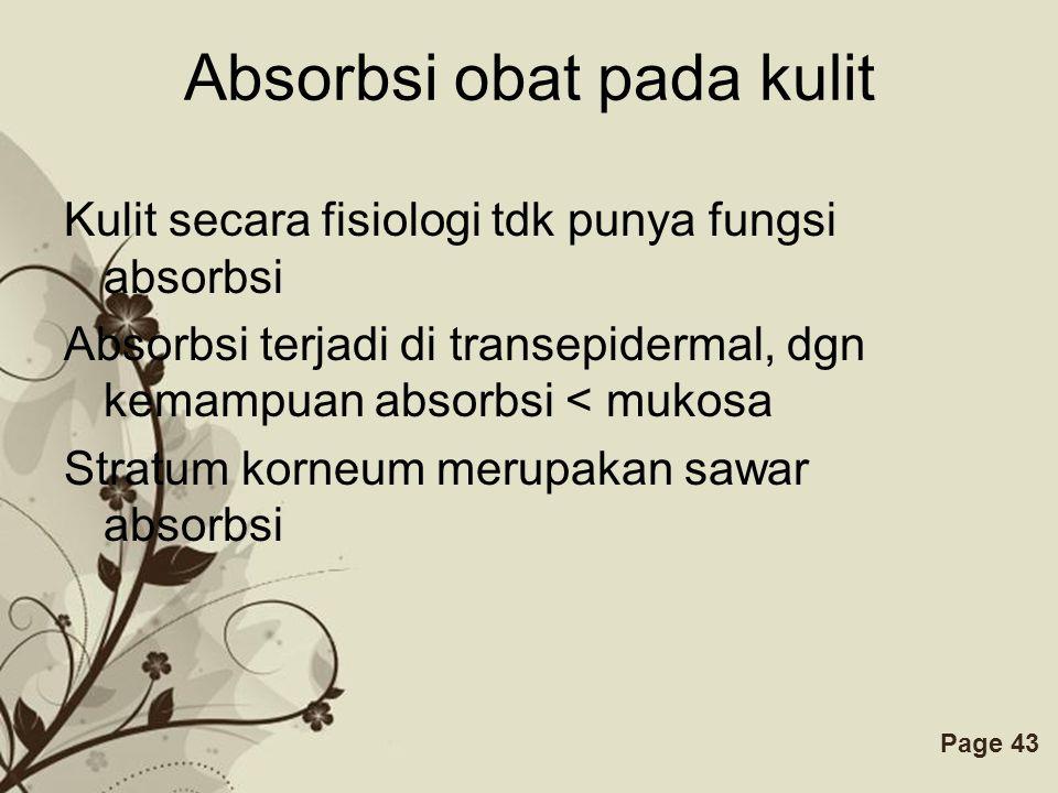 Absorbsi obat pada kulit