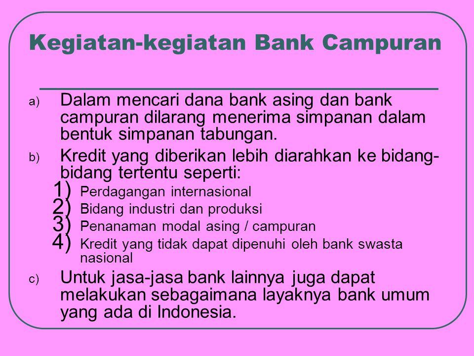 Kegiatan-kegiatan Bank Campuran