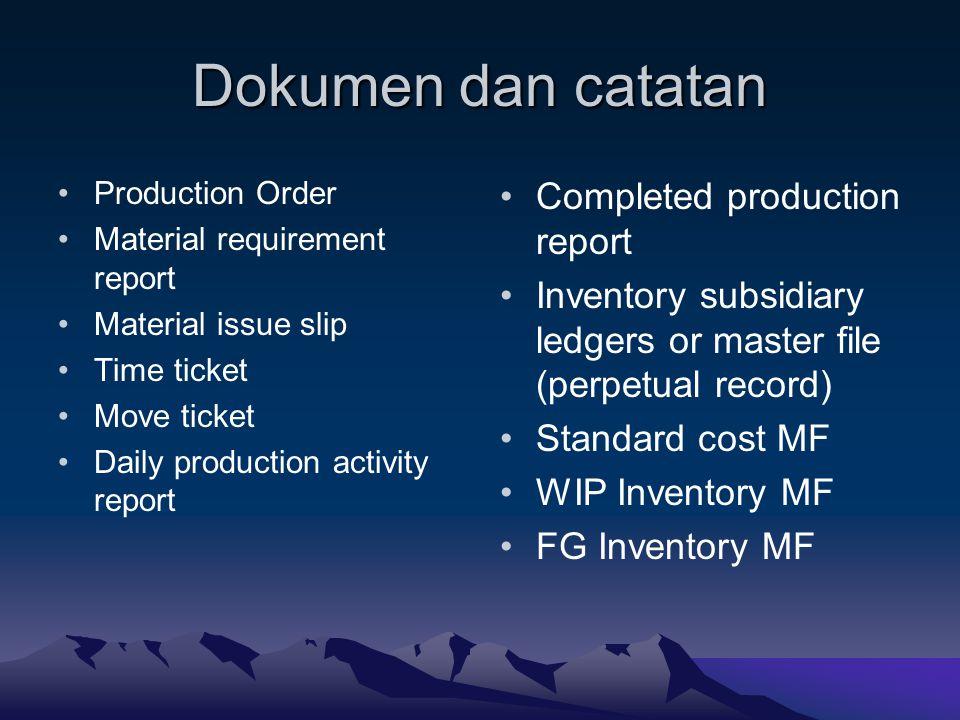 Dokumen dan catatan Completed production report