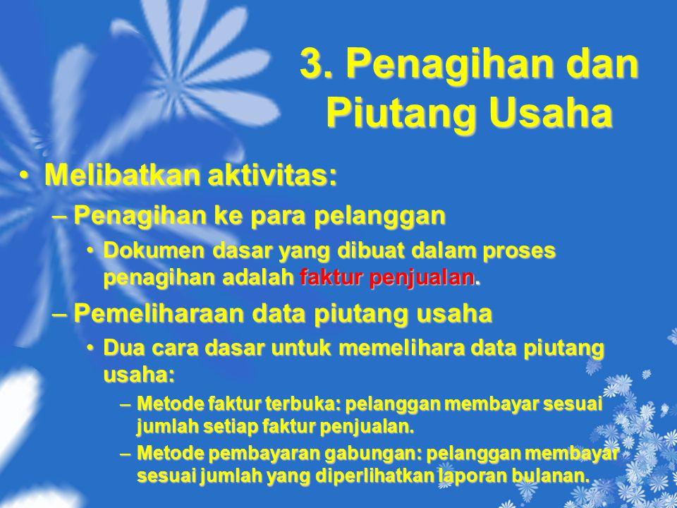 3. Penagihan dan Piutang Usaha