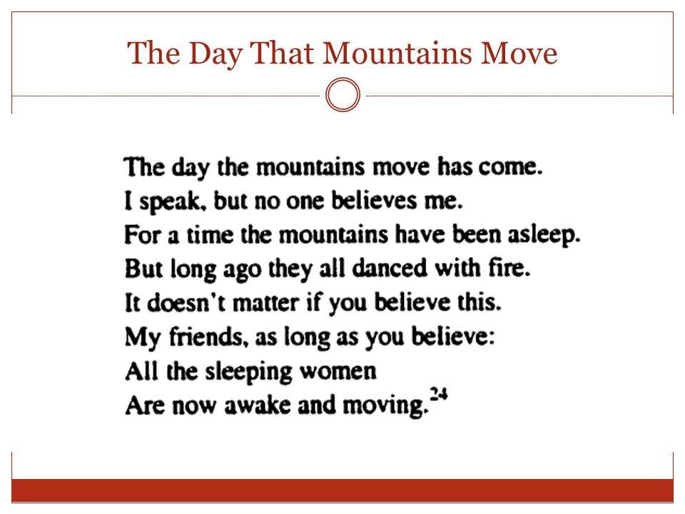 The Day That Mountains Move