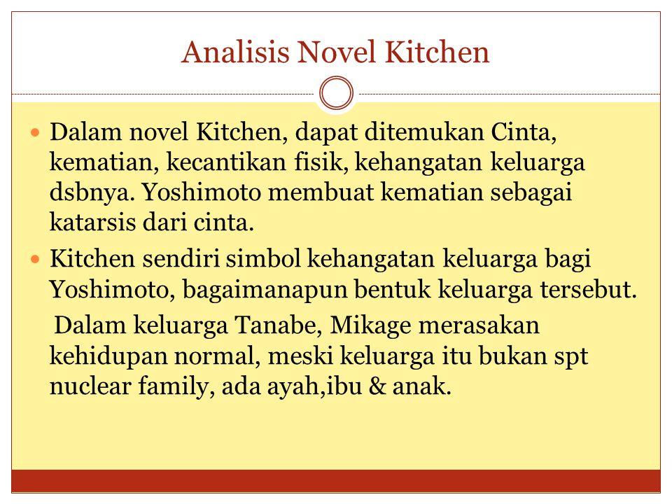 Analisis Novel Kitchen