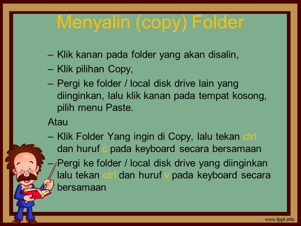Menyalin (copy) Folder