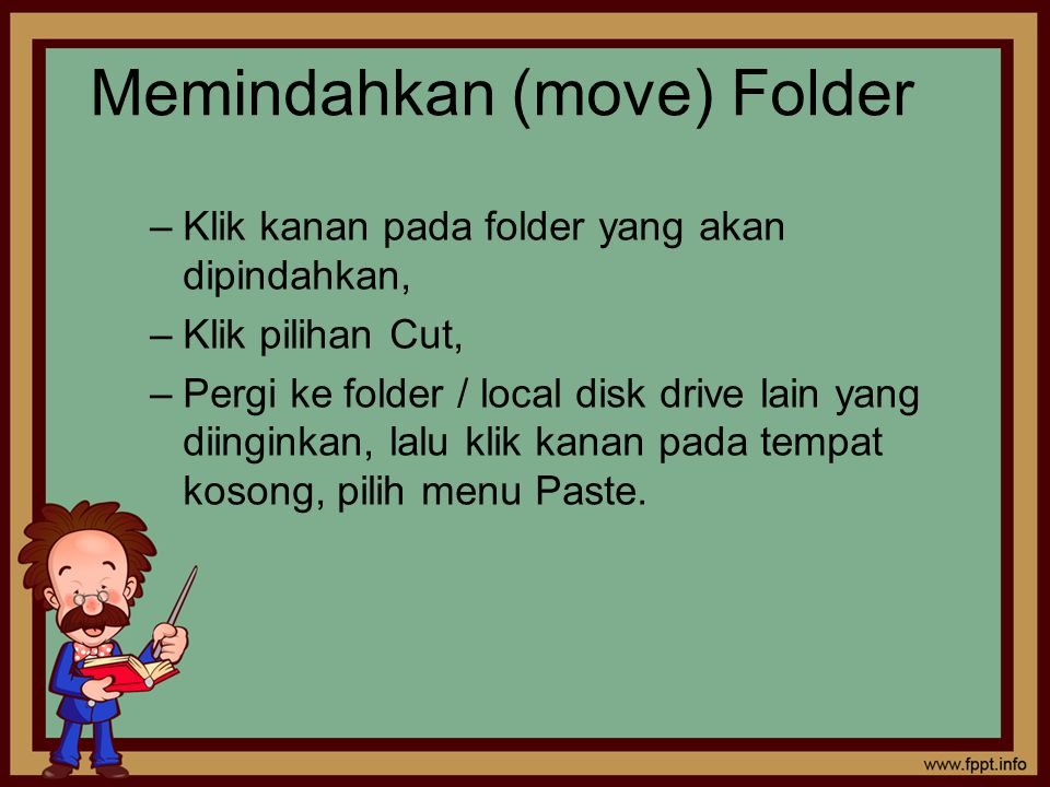 Memindahkan (move) Folder