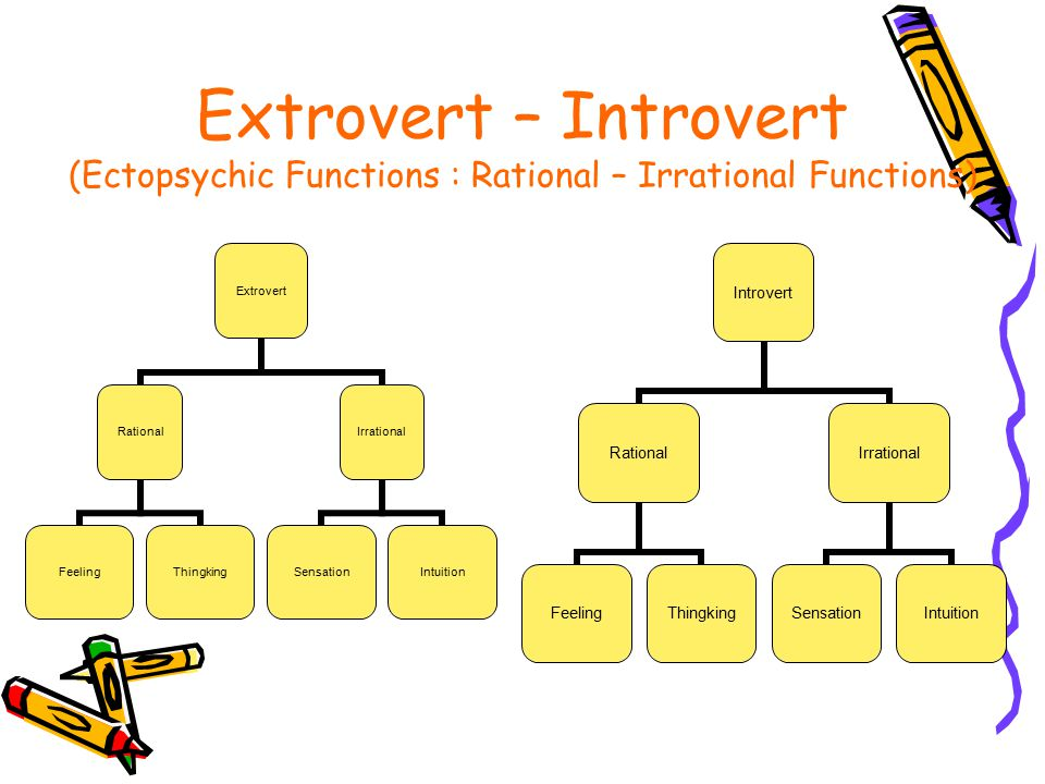 Extrovert – Introvert (Ectopsychic Functions : Rational – Irrational Functions)