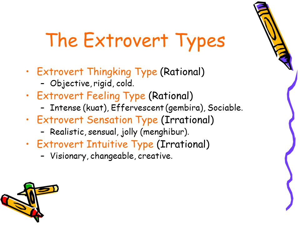 The Extrovert Types Extrovert Thingking Type (Rational)