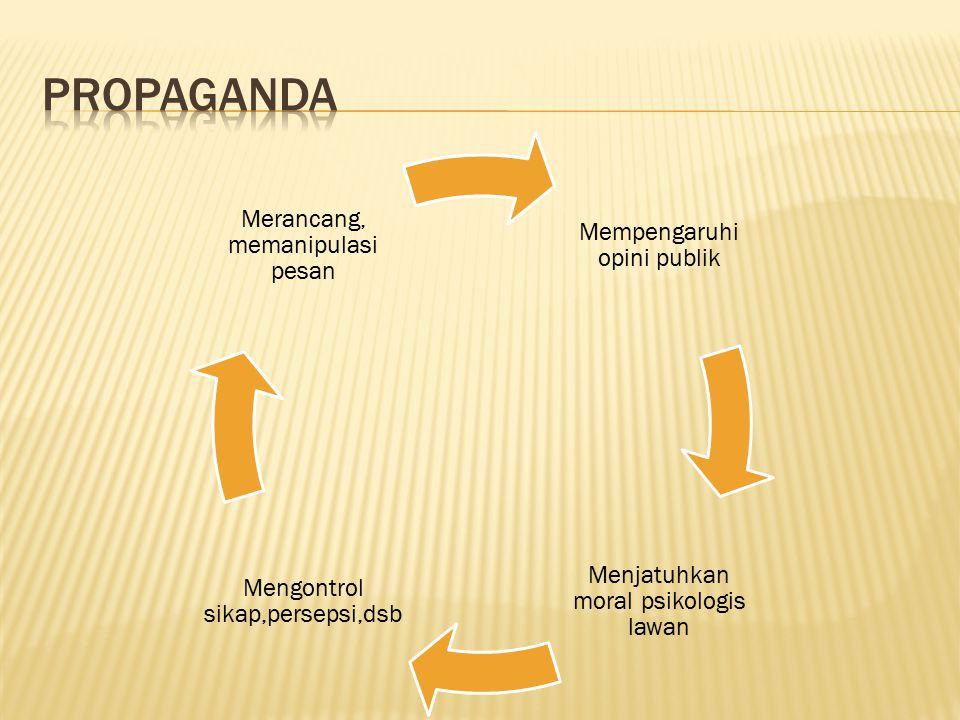 propaganda Mempengaruhi opini publik