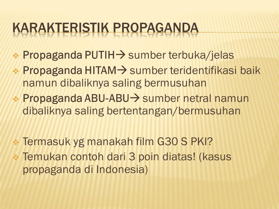 Karakteristik propaganda