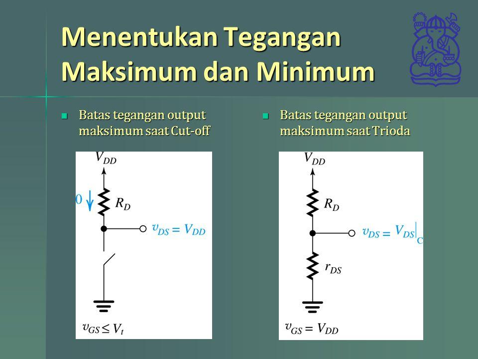 Menentukan Tegangan Maksimum dan Minimum