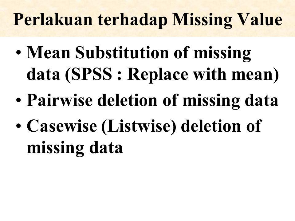 Perlakuan terhadap Missing Value