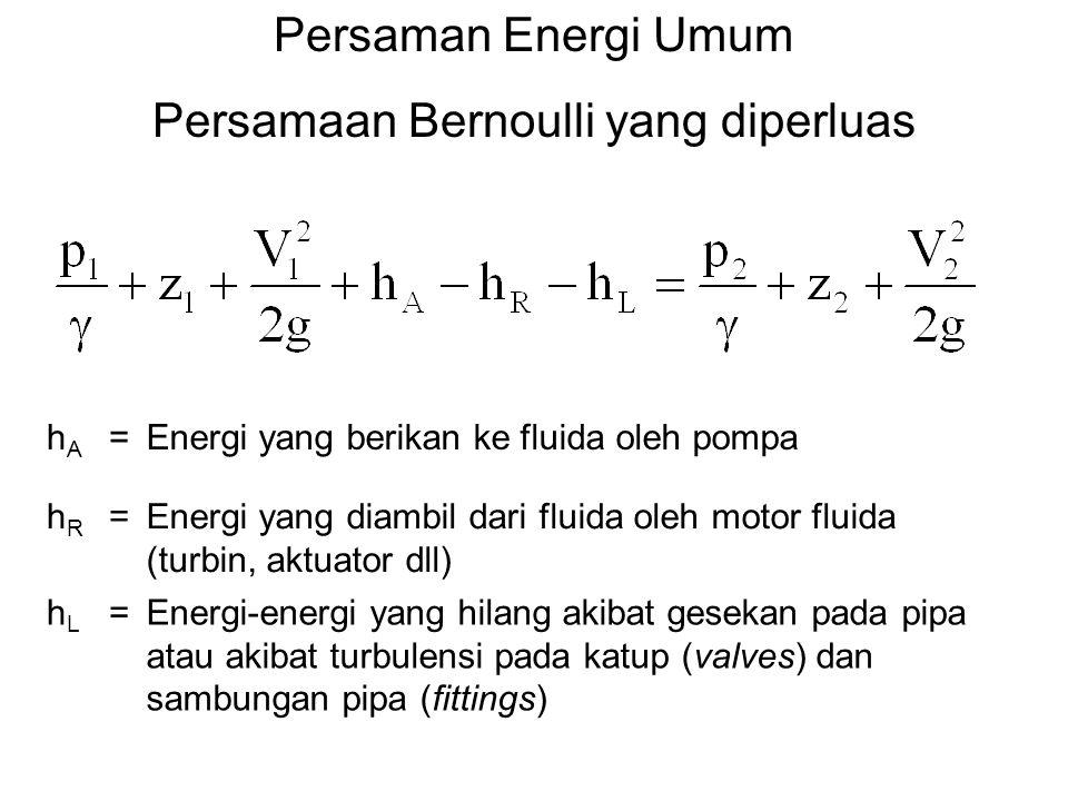 Persamaan Bernoulli yang diperluas