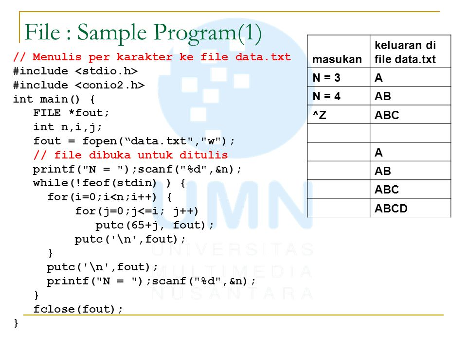 File : Sample Program(1)