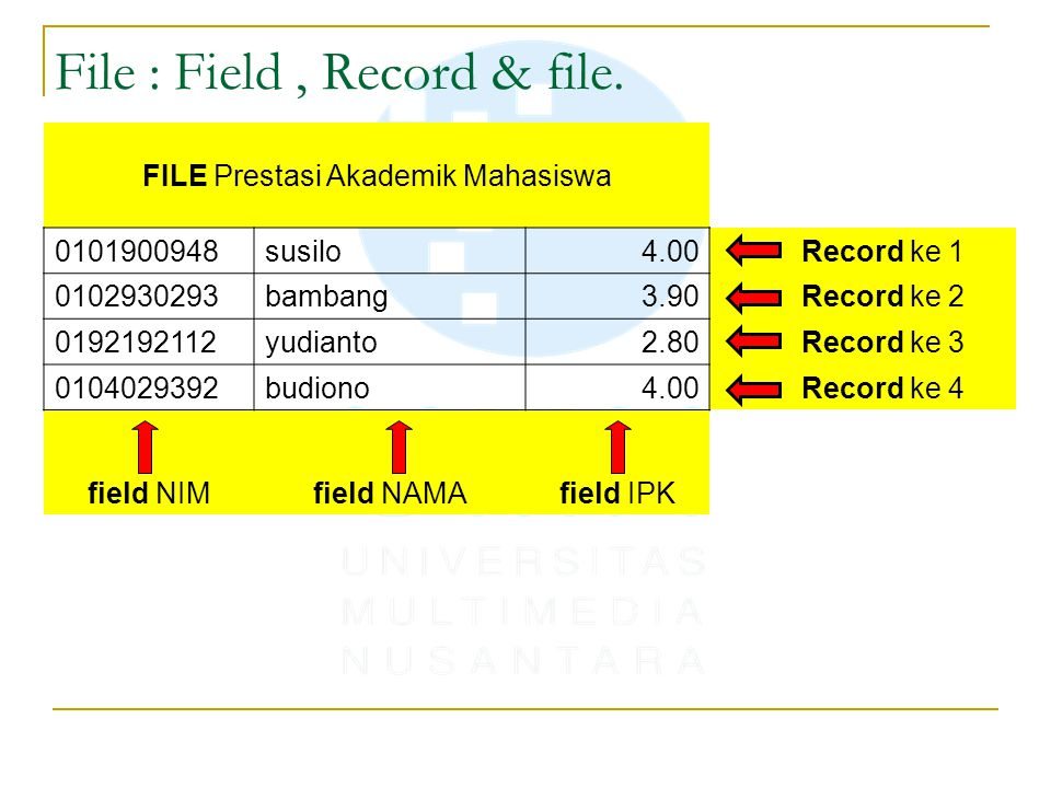 File : Field , Record & file.
