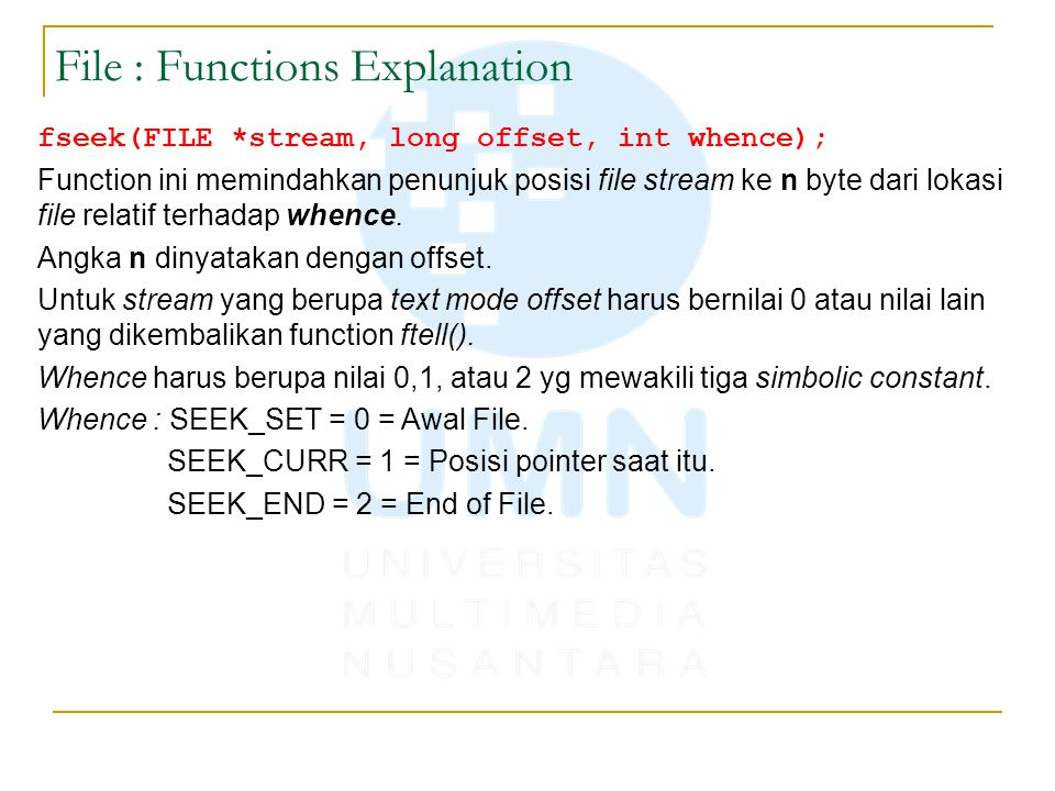 File : Functions Explanation