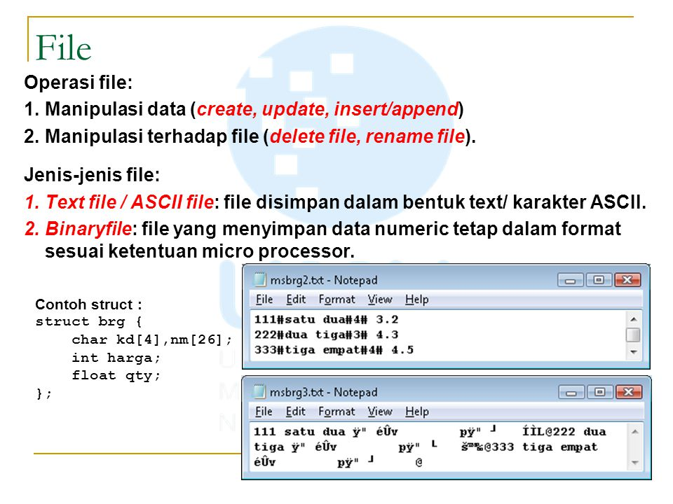 File Operasi file: Manipulasi data (create, update, insert/append)