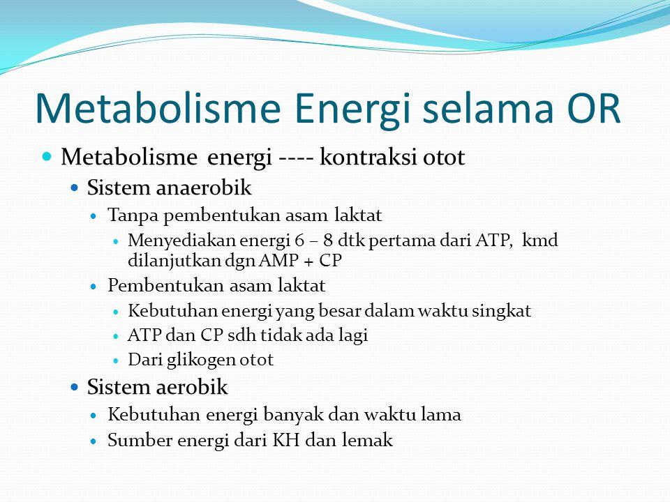 Metabolisme Energi selama OR