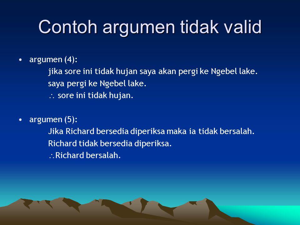 Contoh argumen tidak valid