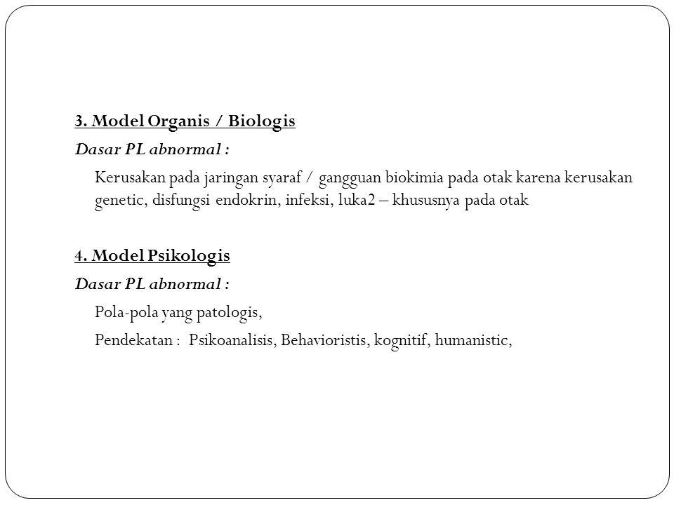 3. Model Organis / Biologis