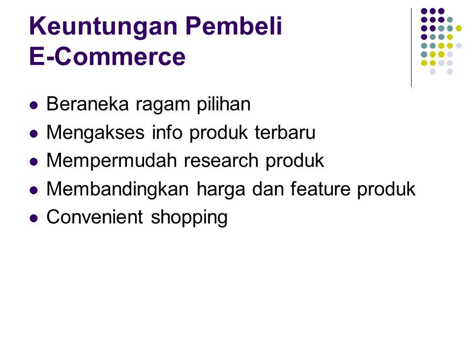 Keuntungan Pembeli E-Commerce