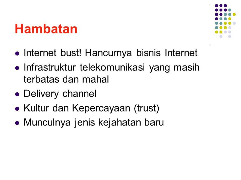 Hambatan Internet bust! Hancurnya bisnis Internet
