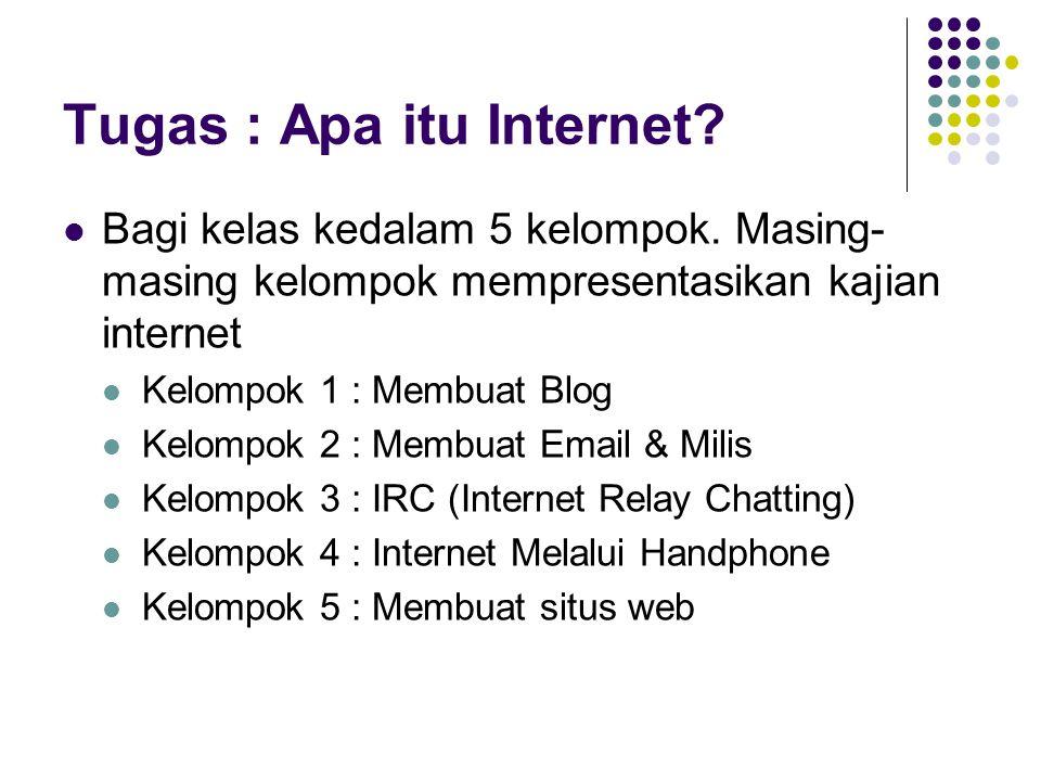 Tugas : Apa itu Internet