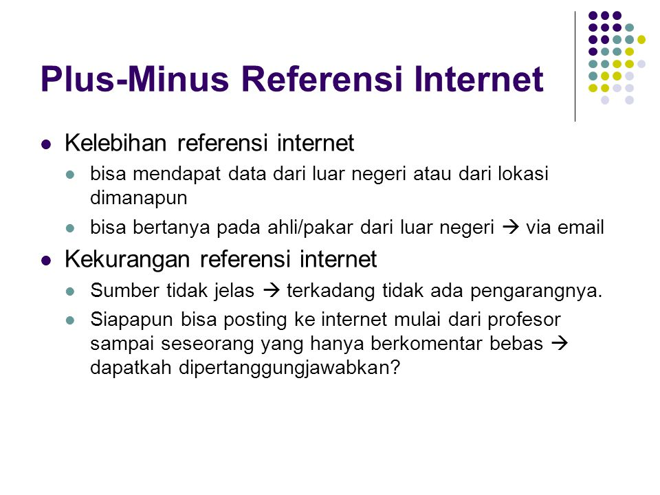 Plus-Minus Referensi Internet