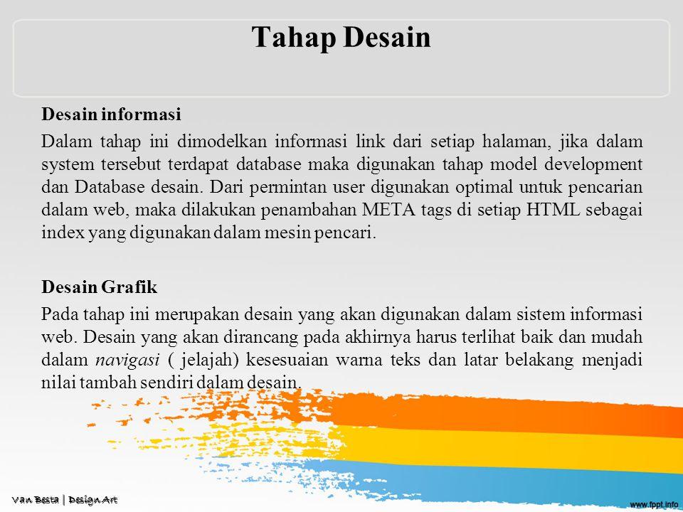 Tahap Desain Desain informasi