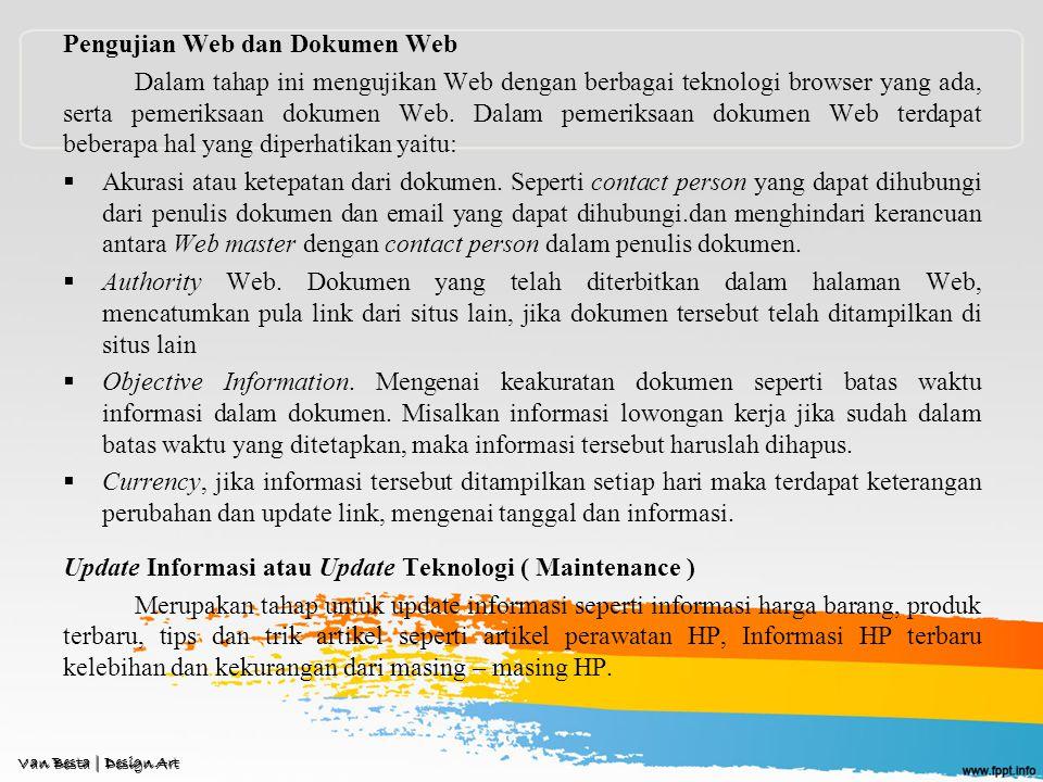 Pengujian Web dan Dokumen Web