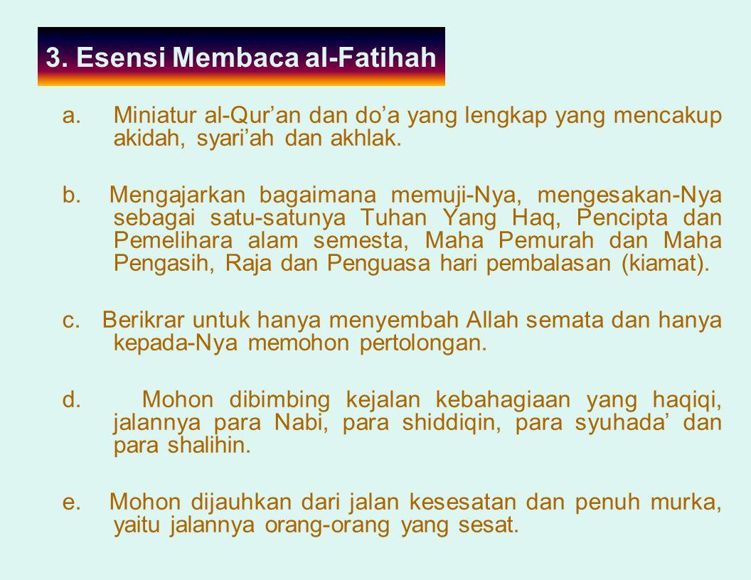 3. Esensi Membaca al-Fatihah