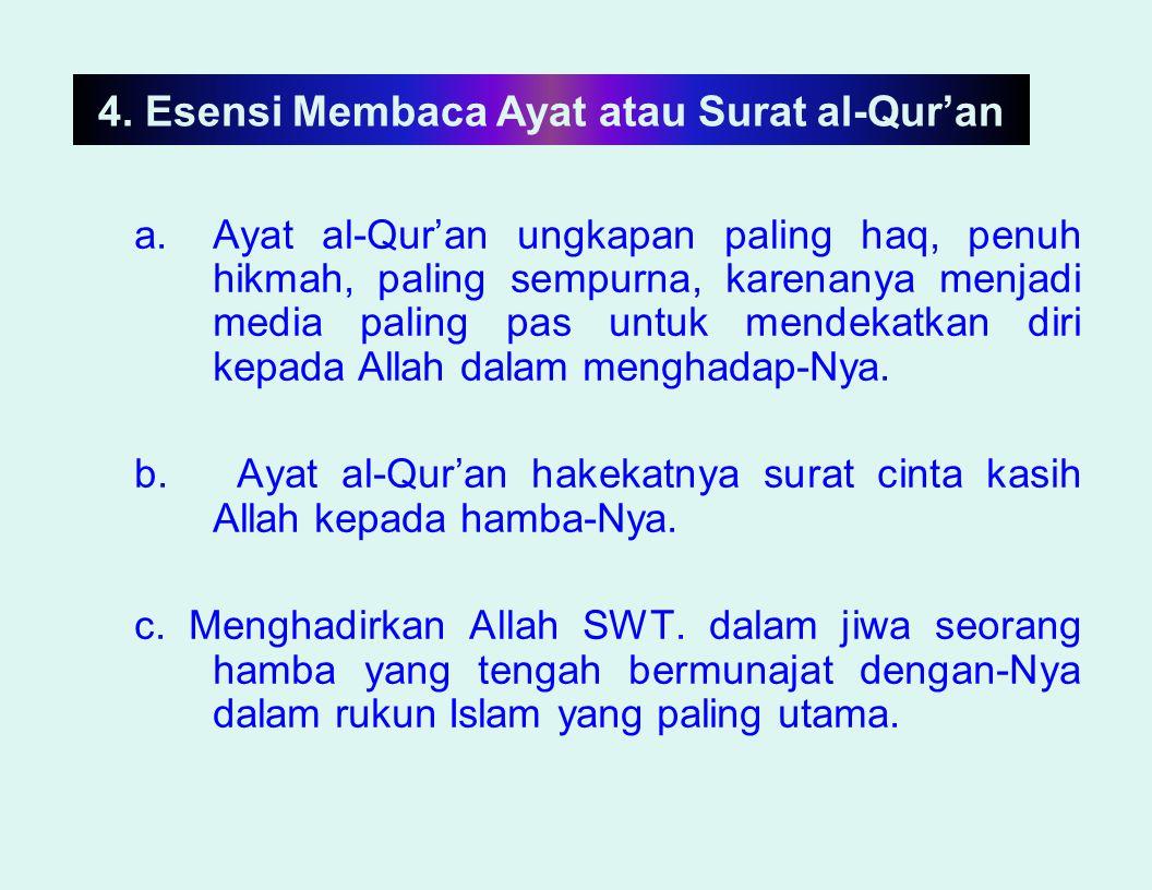 4. Esensi Membaca Ayat atau Surat al-Qur'an