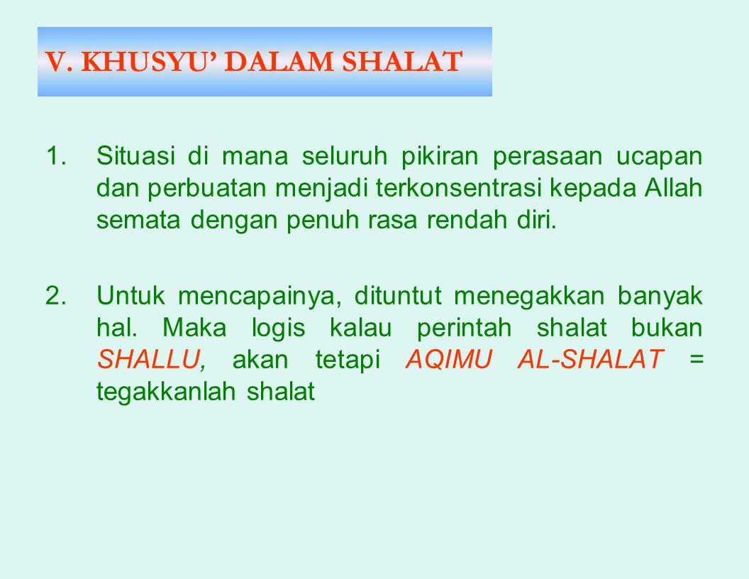 V. KHUSYU' DALAM SHALAT