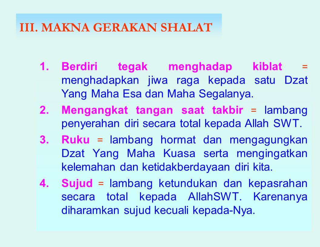 III. MAKNA GERAKAN SHALAT