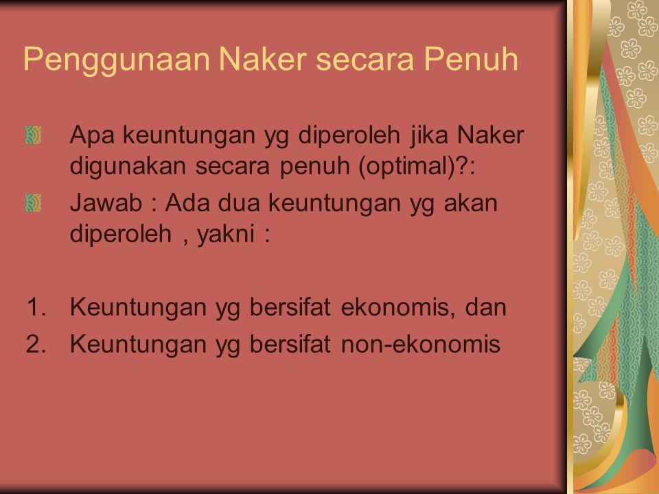 Penggunaan Naker secara Penuh
