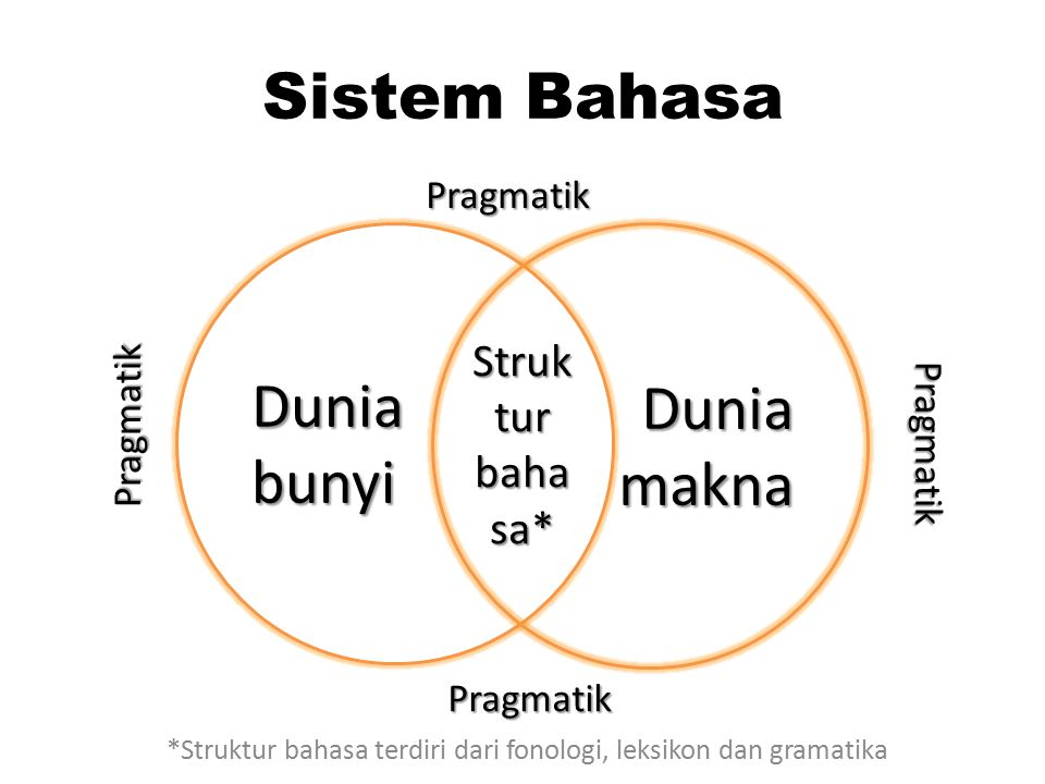 *Struktur bahasa terdiri dari fonologi, leksikon dan gramatika