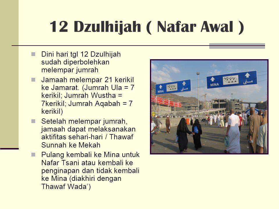 12 Dzulhijah ( Nafar Awal )