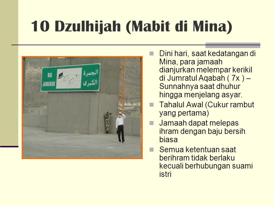 10 Dzulhijah (Mabit di Mina)