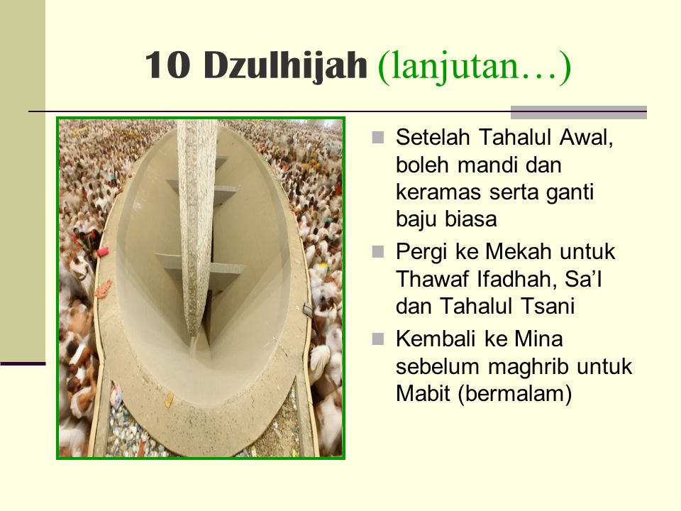 10 Dzulhijah (lanjutan…)