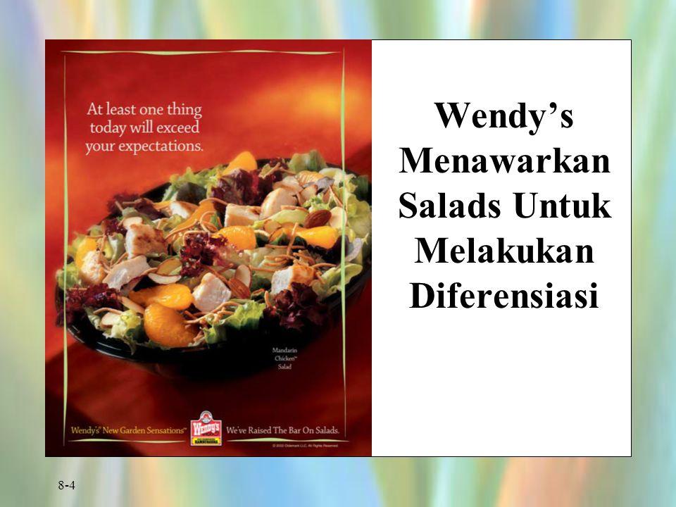 Wendy's Menawarkan Salads Untuk Melakukan Diferensiasi