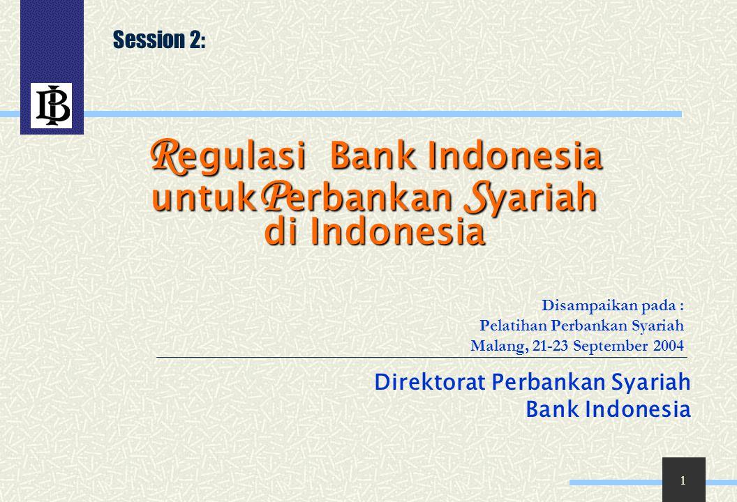 Regulasi Bank Indonesia untukPerbankan Syariah di Indonesia