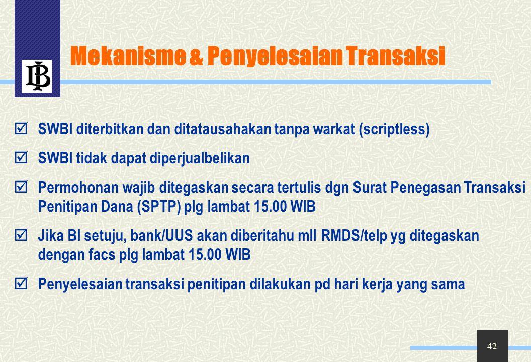 Mekanisme & Penyelesaian Transaksi